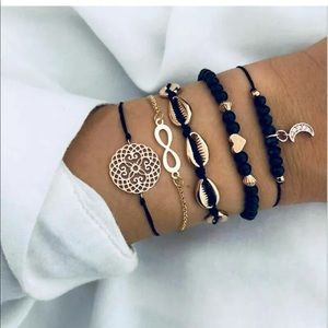 Jewelry - Any 2 for $15 Beaded Stainless Steel Bracelet set